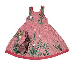 Easter Bunny in the Daisies garden party dress for toddler girls by NYhop, SOLD