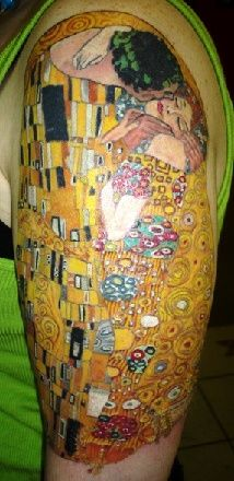 Klimt. Such fine work and fabulous vibrant colours. Love this.