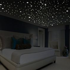 Glow in the Dark Star Decals - These Glow in the Dark Star Decals are the result of years of testing and research in order to provide the finest glow material available anywhere. 480 stars decor