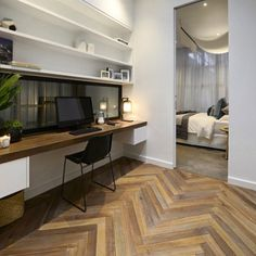 Study, laundry and powder room tonight on The Block.here& a look back, starting with our winning study on Glasshouse Office Nook, Home Office Space, Study Office, Home Office Design, Home Office Decor, House Design, Office Style, Home Decor, Home Office Layouts