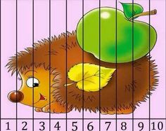 Fall Preschool, Preschool Crafts, Puzzles Numeros, Kindergarten Activities, Activities For Kids, Teaching Kids, Kids Learning, Number Puzzles, Autumn Activities