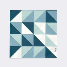 Remix Paper Napkins in Blue design by Ferm Living