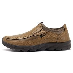 Men Large Size Hand Stitching Microfiber Leather Non-slip Casual Shoes - NewChic