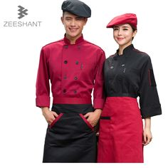 Cooks Kitchen Long Sleeve High Quality Chef Uniforms Clothing Female Restaurant Chefs Apparel Ladies Chefwear in Chief Jackets Paris Restaurants, Bar Ideas, Restaurant Bar, Chefs, Dame, Work Wear, Chef Jackets, Long Sleeve, Clothing