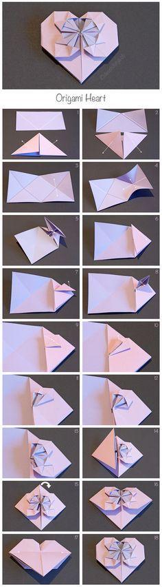 Origami Heart - Change of Heart. Design by Kathleen Weller