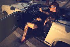 Photo: Alberto Buzzanca / Model: Ilaria Pozzi / Stylist: Giulio Maragno / Car: Mercedes 250SL Pagoda 1967