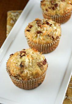 Authentic Suburban Gourmet: Banana, Coconut and Pecan Muffins