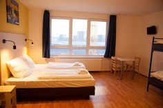Nice budget hotel in vienna, if you want to travel cheap this is your hotel A&O Wien Hauptbahnhof Vienna Hotel, Cheap Travel, Best Hotels, Budgeting, Europe, Nice, Bed, Furniture, Budget Hotels
