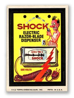 Topps Wacky Packages  12th Series 1975 SHOCK BLADES