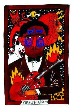 CHARLEY PATTON Historia de la música en diez ilustraciones | Icon | EL PAÍS  #RICARDOCAVOLO, #NuncaDejarasdeSorprenderme