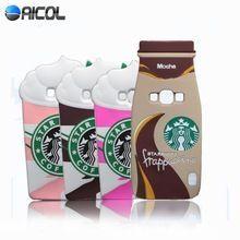 Nouveau 3D crème glacée Starbuck étui en Silicone pour Samsung Galaxy J5 J500 J500F J500H moka Frappuccino bouteille tasse souple couverture arrière(China (Mainland))