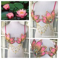 Gilded Lotus Bra - seagypsy couture [formerly whythecagedbirdsingz] - costume…