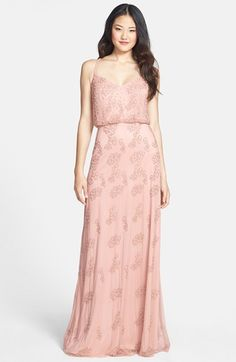Adrianna+Papell+Beaded+Blouson+Gown+available+at+#Nordstrom