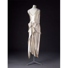 Evening Dress Made Of Satin, Lined With Silk And Hand Sewn - American   c.1920-1922  -  The Victoria & Albert Museum