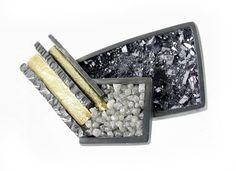 ELAINE COX-UK, Brooch, 2011 Silver, 18ct Gold, Raw Diamonds, Galena