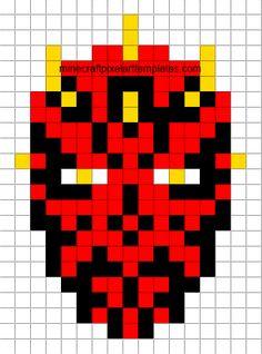 Star Wars Darth Maul perler bead pattern