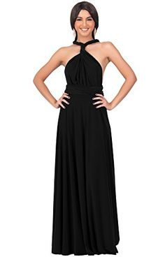 Koh Koh Women's Bridesmaid Convertible Wrap Long Cocktail Gown Maxi Dress Dresses - XX-Large - Black Koh Koh http://www.amazon.com/dp/B00DCMPJ7C/ref=cm_sw_r_pi_dp_4yZkvb00Z6D0W