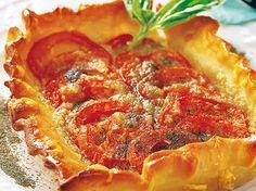 tartaletas de tomate con queso de cabra