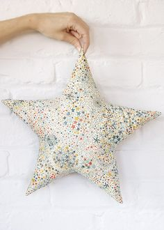 "Star shaped Cushion / Pillow  Liberty  fabric "" Limited edition"""