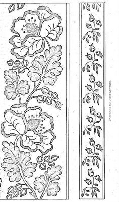 Supreme Best Stitches In Embroidery Ideas. Spectacular Best Stitches In Embroidery Ideas. Brush Embroidery, Tambour Embroidery, Vintage Embroidery, Embroidery Stitches, Embroidery Patterns, Machine Embroidery, Border Embroidery Designs, Pencil Design, Quilt Border