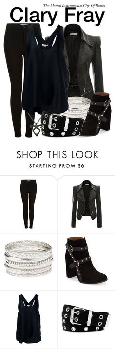 """""""Clary Fray - The Mortal Instruments: City Of Bones"""" by nerd-ville ❤ liked on Polyvore featuring Topshop, Charlotte Russe, Helmut Lang and Relic"""