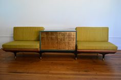 Mid-century Modern Renzo Rutili Settee for Johnson Furniture with Oriental Details on Etsy, $4,099.72 AUD
