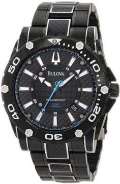 Bulova Mens 98B153 Precisionist Champlain Steel + black ion Watch