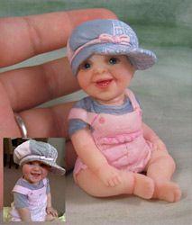 Polymer Clay Babies by Amanda Day