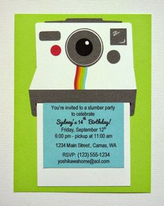 Snippets By Mendi: A Teen Instagram & Polaroid Camera Themed Birthday Party