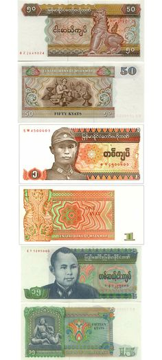 Burmese Money - found via banknotes.com namnewsnetwork.org notasportugal.blogspot.com