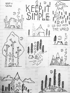 Simple Drawing – 75 Picture Ideas The post Simple Drawing – 75 Picture Ideas appeared first on Woman Casual - Drawing Ideas Art Drawings For Kids, Doodle Drawings, Drawing Sketches, Easy Drawings, Drawing Ideas, Simple Doodles Drawings, Doodle Art Simple, Cool Simple Drawings, Simple Designs To Draw