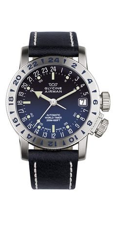 Glycine Watch Airman 17 Watch available to buy online from with free UK delivery. Amazing Watches, Cool Watches, Rolex Watches, Sport Watches, Luxury Watch Brands, Luxury Watches For Men, Men's Accessories, Glycine Airman, Estilo Fashion
