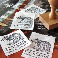 Wolf: personalised stamp (4x4 cm)  https://www.etsy.com/shop/lida21?ref=hdr_shop_menu