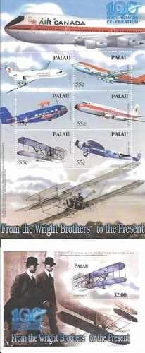Palau Aviation Celebration 6 Stamp Sheet S S 16D 023 | eBay