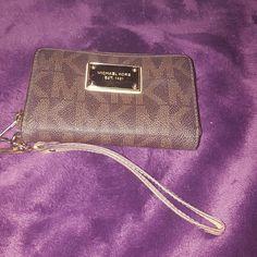 Michael Kors Wallet Brown MK wrist wallet Michael Kors Bags Wallets