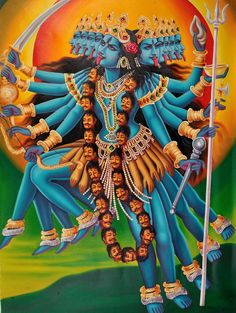 Darshan: A Gallery of Kali Ma Images Kali Hindu, Hindu Art, Kali Puja, Durga Kali, Durga Puja, Mother Kali, Divine Mother, Kali Goddess, Indian Goddess