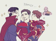 Marvel Jokes, Marvel Funny, Marvel Dc Comics, Funny Comics, Marvel Avengers, Strange Family, Doctor Strange, Superfamily Avengers, Avengers