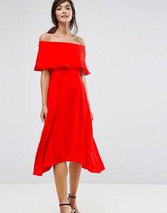 221c15cc96 Shop Coast Brooke Bandeau Frill Midi Dress at ASOS.