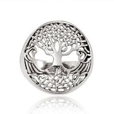 Chuvora 925 Sterling Silver 18 mm Detailed Celtic Tree of Life with Root Round Shape Band Ring for Women - Nickel Free - Size 9  http://electmejewellery.com/jewelry/rings/bands/chuvora-925-sterling-silver-18-mm-detailed-celtic-tree-of-life-with-root-round-shape-band-ring-for-women-nickel-free-size-9-com/