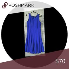 Calvin Klein dress Royal blue Calvin Klein dress.  Size 10. Like new. Only worn once to a graduation. Very figure flattering. Make me an offer. Calvin Klein Dresses Midi