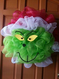 51 Ideas grinch door decorations deco mesh for 2019 Wreath Crafts, Diy Wreath, Christmas Crafts, Wreath Ideas, Snowman Wreath, Diy Snowman, Diy Crafts, Tulle Wreath, Crochet Christmas