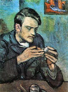 Pablo Picasso blue period - portrait Mateu Fernandez de Soto View more paintings…