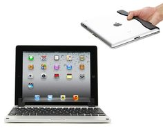 """The Brydge iPad Dock & Keyboard is an iPad keyboard dock that transforms your iPad into a laptop. Good idea! Brydge was launched as a Kickstarter project. Check out the video, Cool.  """"Brydge is an elegant solution to the lack of quality iPad keyboards and accessories currently on the market. Made from aerospace-grade aluminum, with optional stereo speakers, Brydge connects to your iPad using a patent-pending hinge. This click-in hinge allows for close to 180 degrees of iPad positioning and…"""