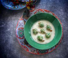 Frittomisto: cucina ed emozioni: Gnocchi di pane e spinaci su fonduta di pecorino c...