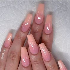 Cutest Pink Ombre Nail Designs & Photos for Girls in 2019 - Nails Art - Nageldesign Ombre Nail Designs, Acrylic Nail Designs, Nail Art Designs, Pink Ombre Nails, Purple Nail, Glitter Nails, Pink Toe Nails, Summer Acrylic Nails, Best Acrylic Nails