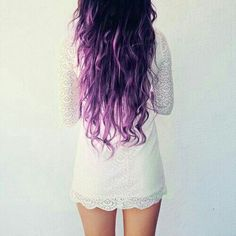 I would love to ombre my hair from dark to light purple