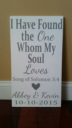 Personalized I Have Found the One Whom My Soul by WordsByWilson