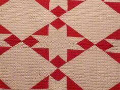 Selvage Blog: Red and White Star Quilts