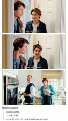 Hazel Grace and the Waters family In TFIOS