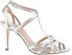J.Crew Mirror metallic caged sandals on shopstyle.com